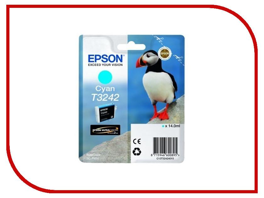 Картридж Epson T3242 C13T32424010 Cyan для SC-P400 картридж epson t3249 c13t32494010 orange для sc p400