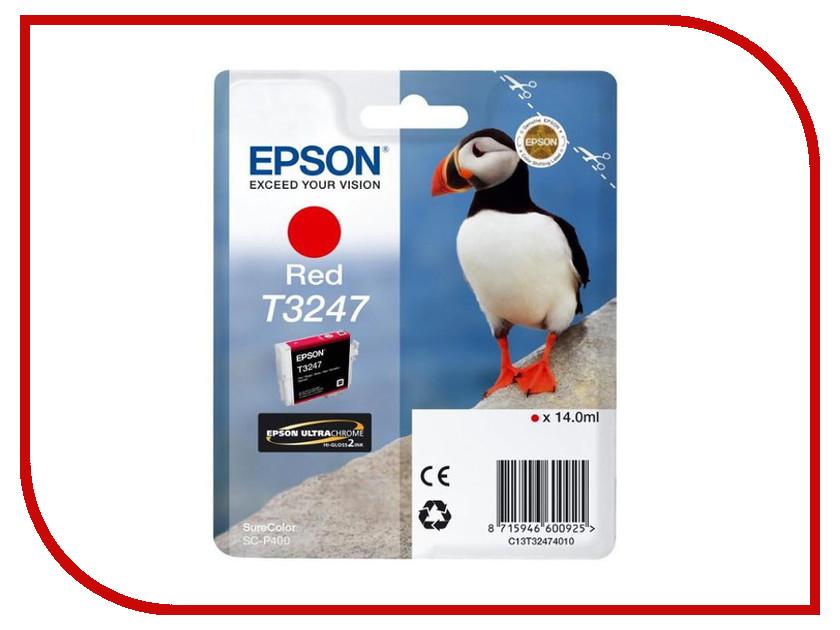 Картридж Epson T3247 C13T32474010 Red для SC-P400 картридж epson t3249 c13t32494010 orange для sc p400