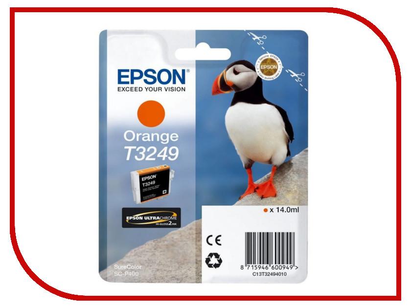 Картридж Epson T3249 C13T32494010 Orange для SC-P400 картридж epson t3249 c13t32494010 orange для sc p400