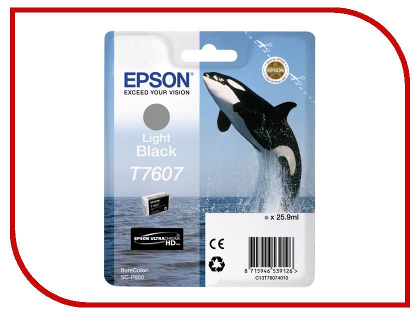 Картридж Epson T7607 C13T76074010 Light Black для SC-P600<br>