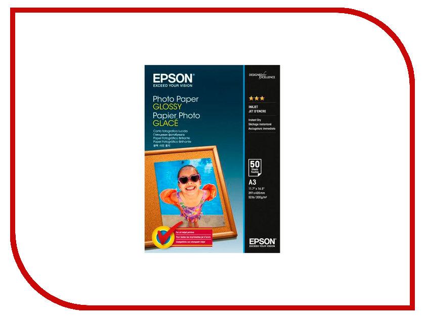 Фотобумага Epson C13S042537 Photo Paper Glossy A3 200g/m2 50 листов<br>