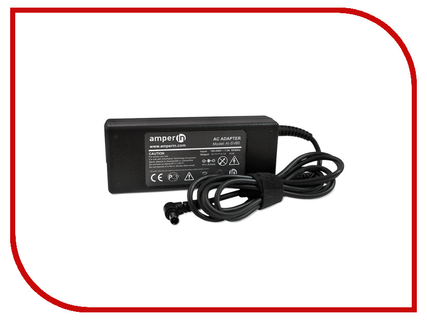 Блок питания Amperin AI-SV80 для Sony Vaio 19.5V 4.1A 6.5x4.4mm 80W