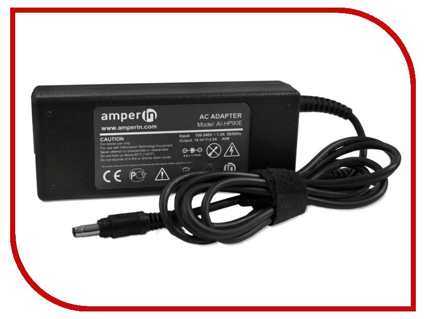 Блок питания Amperin AI-HP90E для HP 18.5V 4.9A 4.8x1.7mm 90W<br>