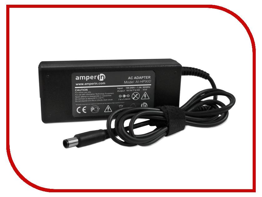 Блок питания Amperin AI-HP90D для HP 18.5V 4.9A 7.4x5.0mm 90W блок питания 4parts lac hp03 hp 18 5v 6 5a 7 4x5 0mm 120w