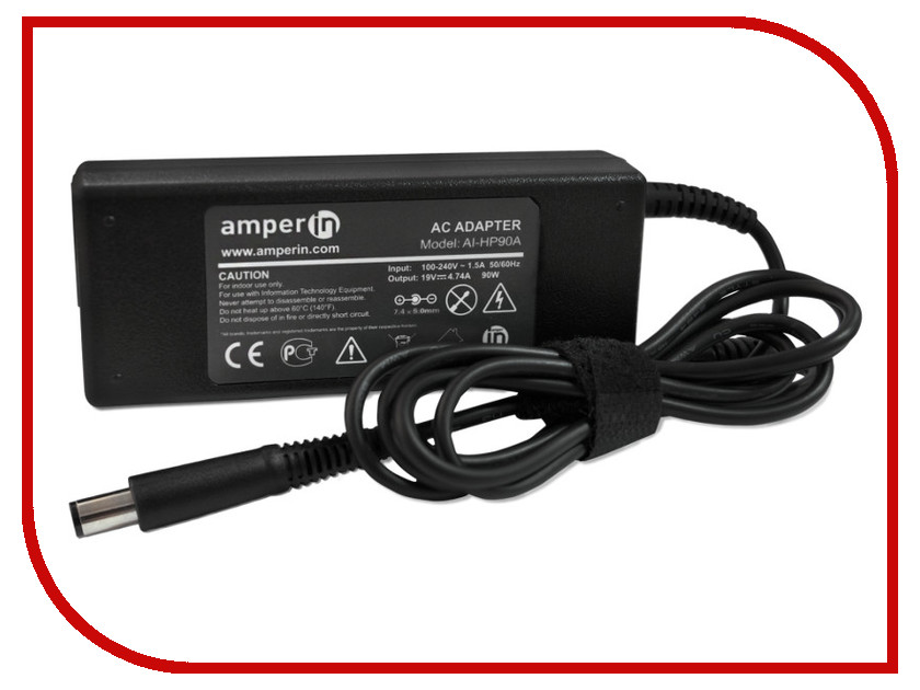 Блок питания Amperin AI-HP90A для HP 19V 4.74A 7.4x5.0mm 90W j ai tue