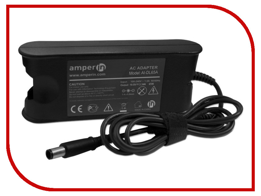 Amperin - ���� ������� Amperin AI-DL65A ��� Dell 19.5V 3.34A 7.4x5.0 65W