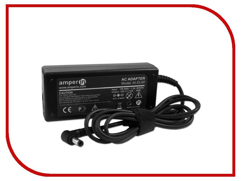 Блок питания Amperin AI-DL60 для Dell 19V 3.16A 5.5x2.5mm 60W<br>
