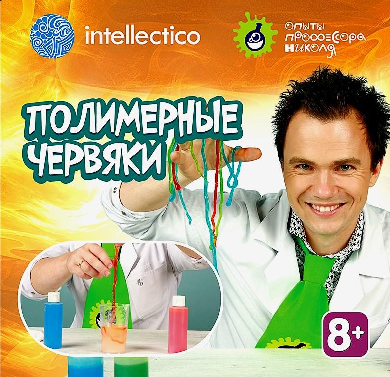 Игра Intellectico Опыты профессора Николя Полимерные червяки 26564