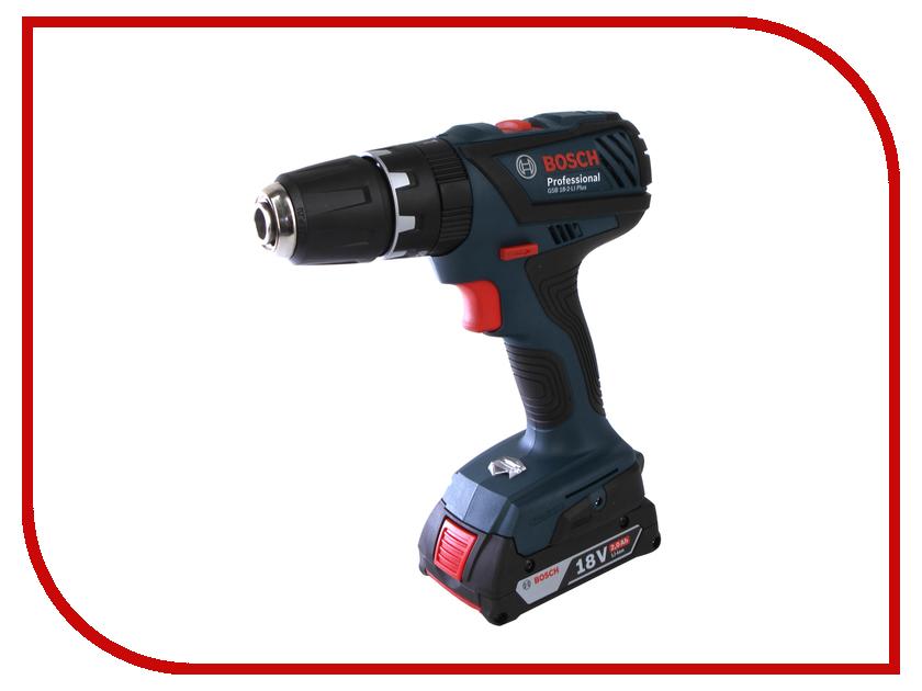 Электроинструмент Bosch GSB 18-2-Li Plus 06019E7120 электроинструмент bosch psr 18 li 2 ergonomic 2 5ah x2 case 06039b0100
