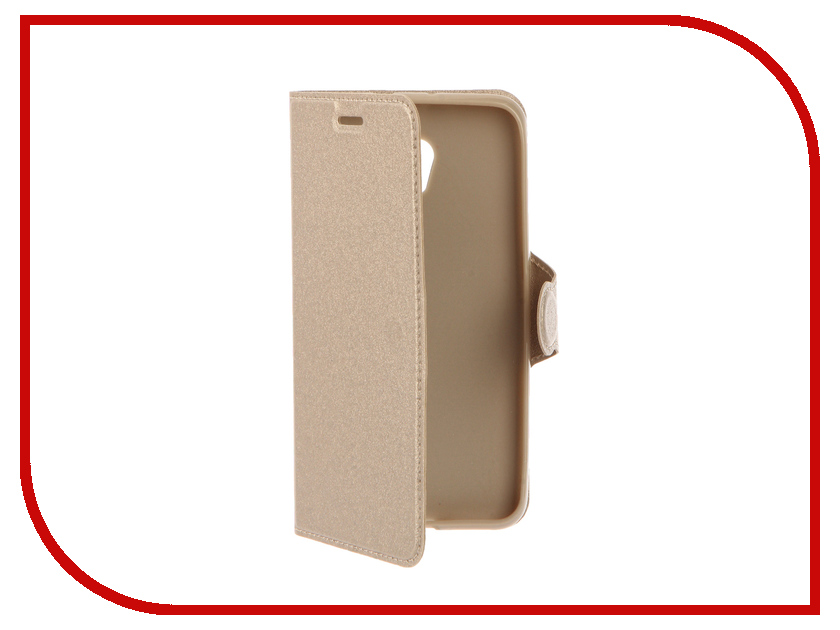 Аксессуар Чехол ZTE Blade V7 Red Line Book Type Gold<br>