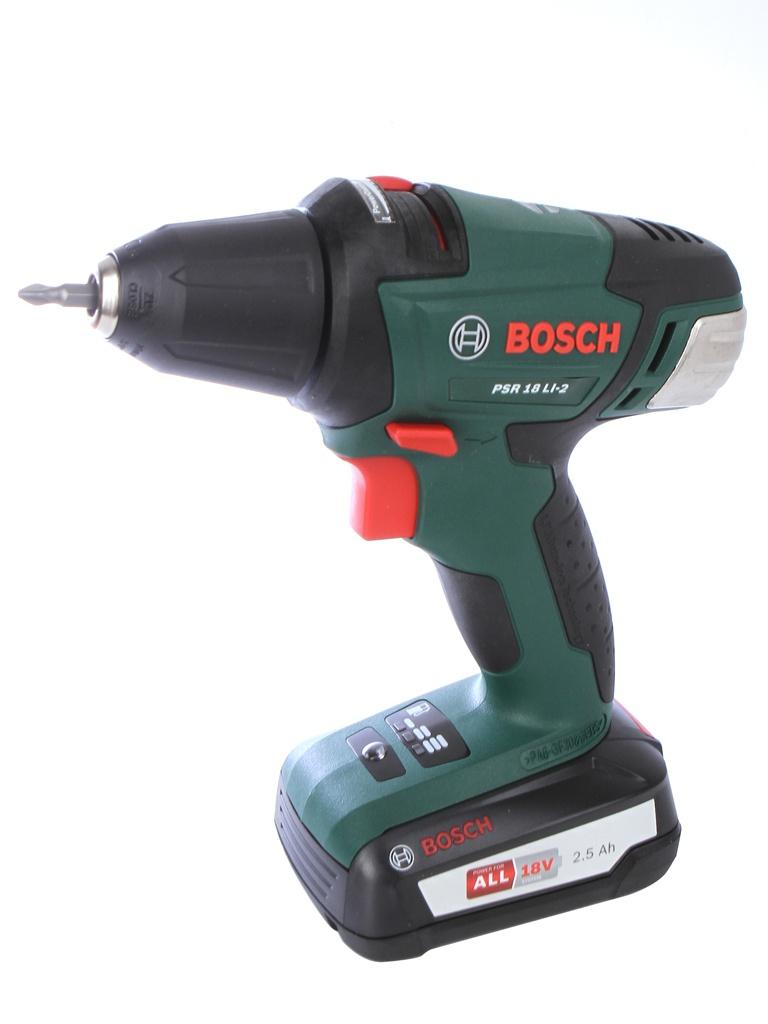 цена на Электроинструмент Bosch PSR 18 LI-2 2.5Ah x2 Case 060397330H