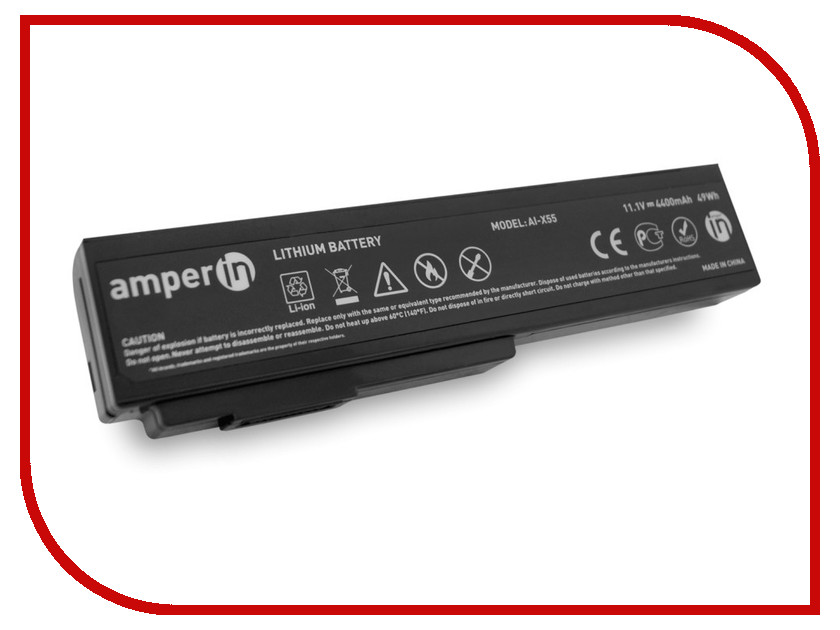 Аккумулятор Amperin AI-X55 для ASUS X/V/VX/N/M/L/G/B Series
