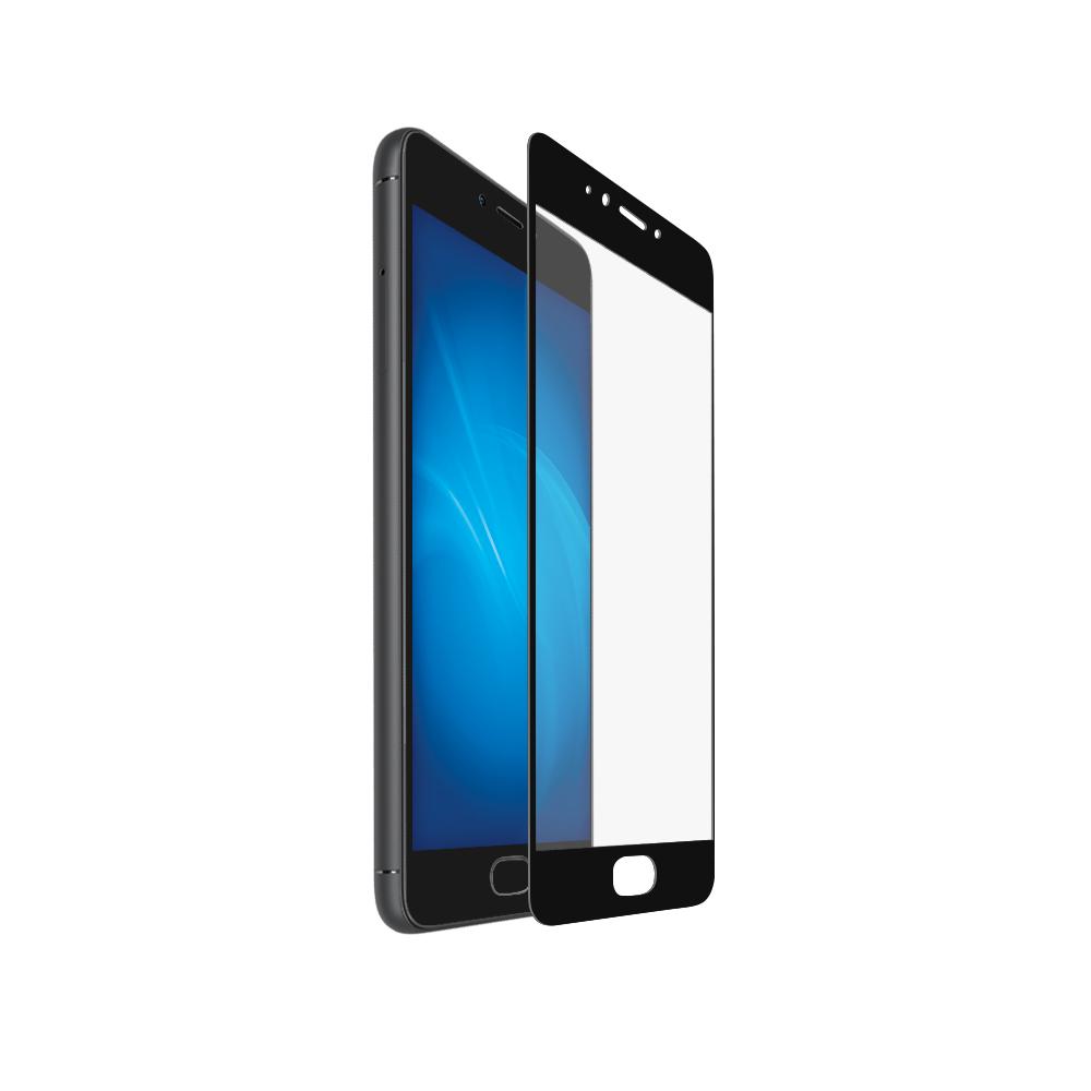 Аксессуар Закаленное стекло DF для Meizu Pro 6 Full Screen mzColor-04 Black аксессуар закаленное стекло для meizu m6t df full screen mzcolor 23 black