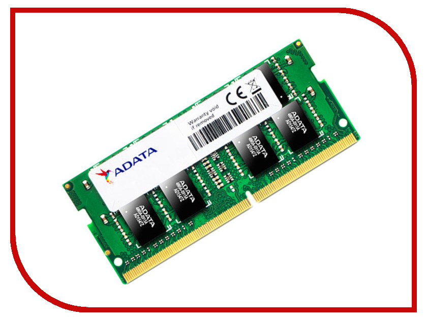 Модуль памяти A-Data SO-DIMM DDR4 2133MHz PC4-17000 CL15 - 8Gb AD4S2133W8G15-R<br>