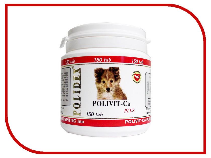 Витамины Polidex Polivit-Ca plus Улучшения роста костной ткани 150 таблеток для собак 5950