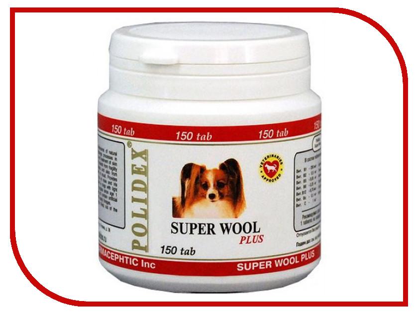 Витамины Polidex Super Wool plus Улучшает состояние шерсти и кожи 150 таблеток для собак 5943