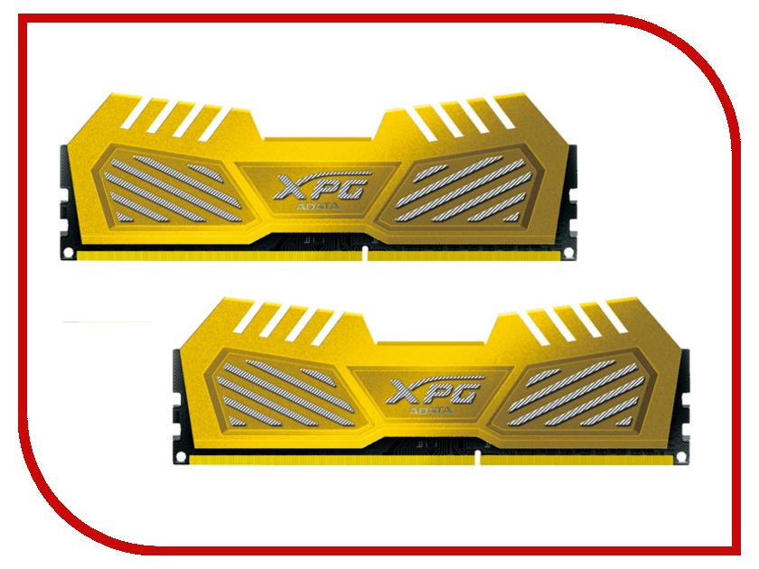 Модуль памяти A-Data XPG V2 PC3-14900 DIMM DDR3 1866MHz CL10 - 8Gb KIT (2x4Gb) AX3U1866W4G10-DGV<br>