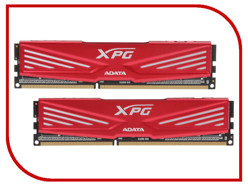 Модуль памяти A-Data XPG V1 PC3-14900 DIMM DDR3 1866MHz CL10 - 16Gb KIT (2x8Gb) AX3U1866W8G10-DR<br>