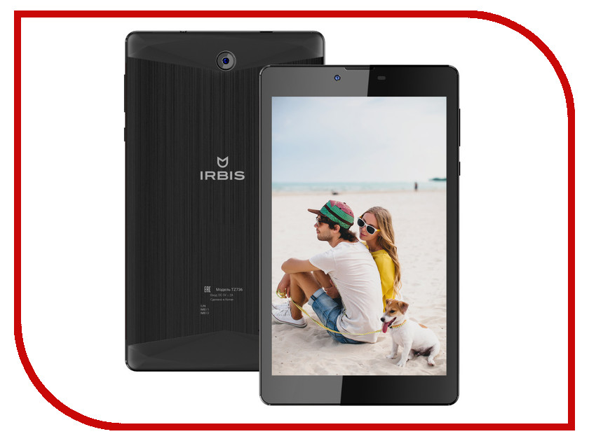 Планшет Irbis TZ736 Spreadtrum SC7730 1.3 GHz/1024Mb/8Gb/Wi-Fi/3G/Bluetooth/GPS/Cam/7.0/1280x800/Android<br>