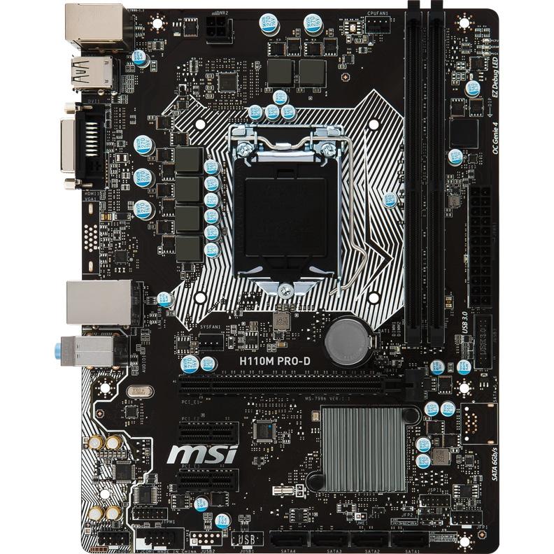 Материнская плата MSI H110M PRO-D цена и фото