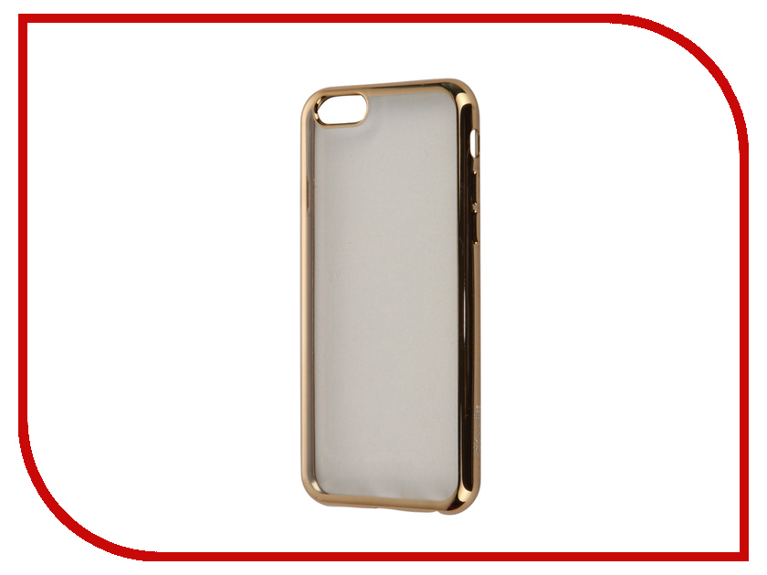 Аксессуар Чехол Celly Laser для APPLE iPhone 6/6S Transparent-Gold BCLIP6SGD