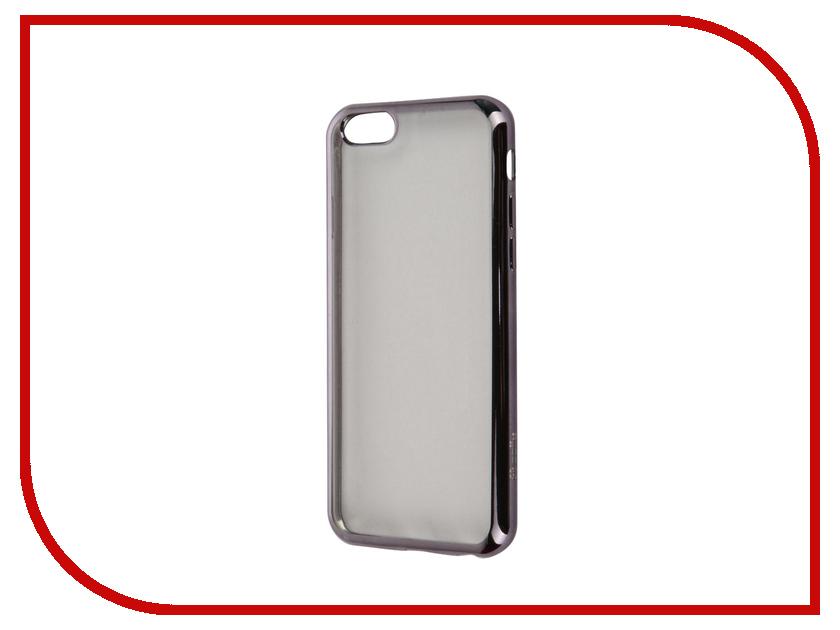 Аксессуар Чехол Celly Laser для APPLE iPhone 6/6S Transparent-Dark Grey BCLIP6SDS<br>