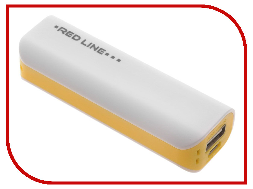 Аккумулятор Red Line R-3000 Power Bank 3000 mAh Yellow<br>
