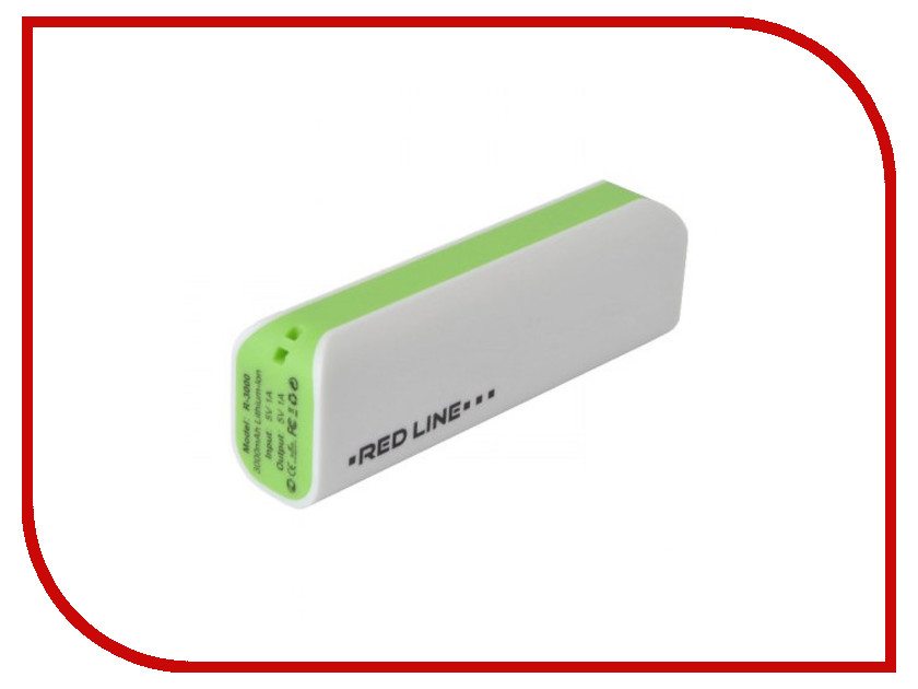 Аккумулятор Red Line R-3000 Power Bank 3000mAh Green new for 2016 2 pcs aaa 3a 1800mah 1 2v ni mh rechargeable battery
