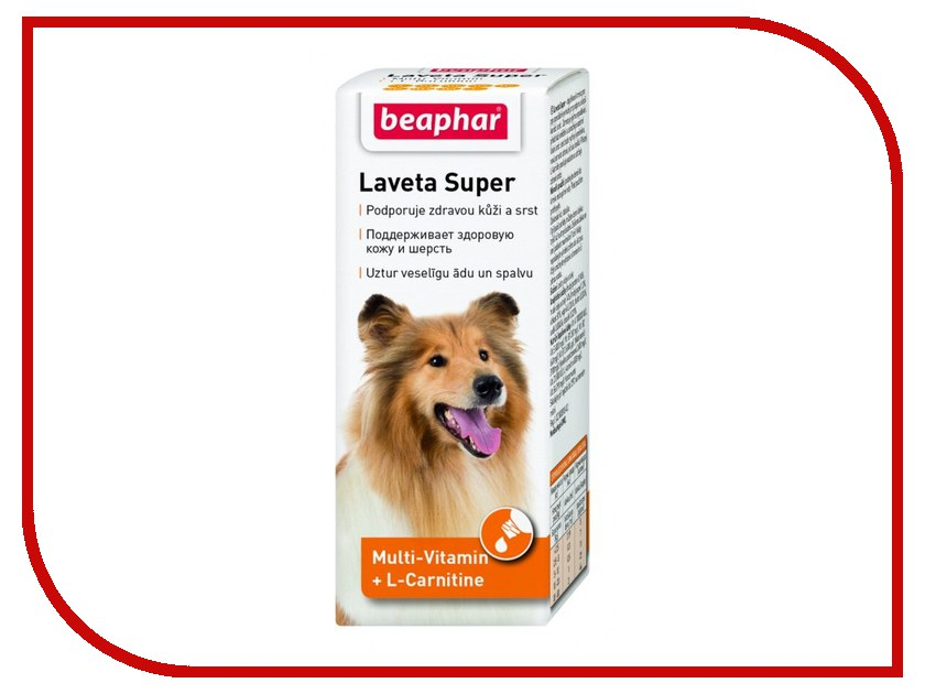 Витамины Beaphar Laveta super для шерсти 50ml для собак 12554