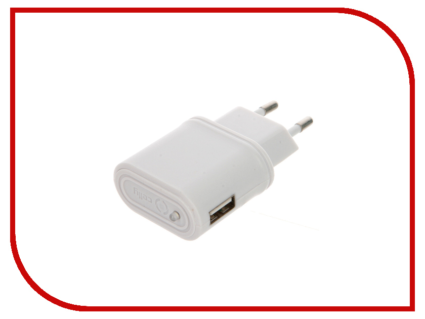 Зарядное устройство Celly USB 1A White TCUSBWH