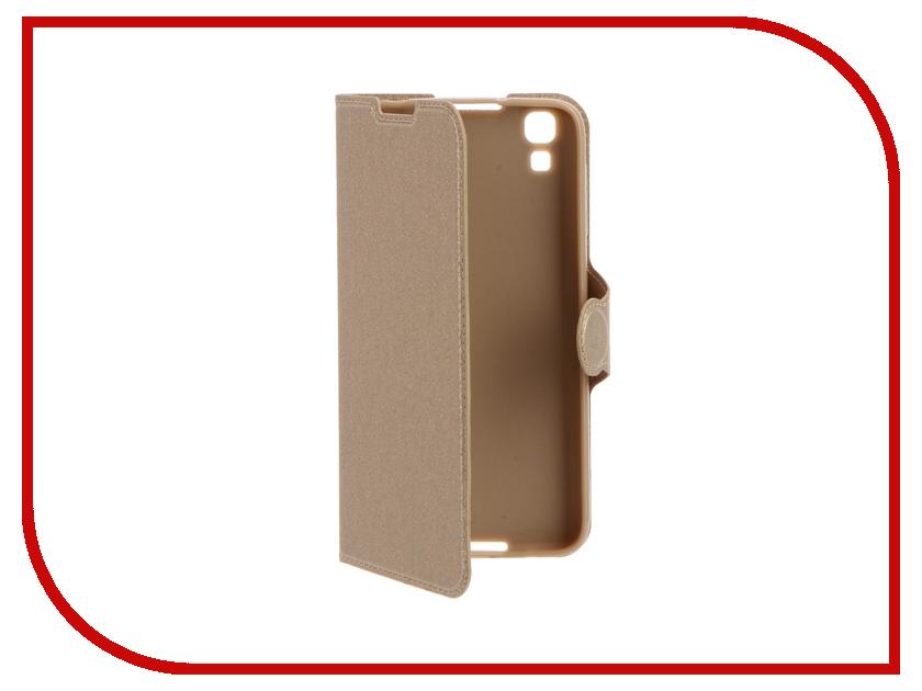 Аксессуар Чехол Alcatel OneTouch 6055 Idol 4 Red Line Book Type Gold