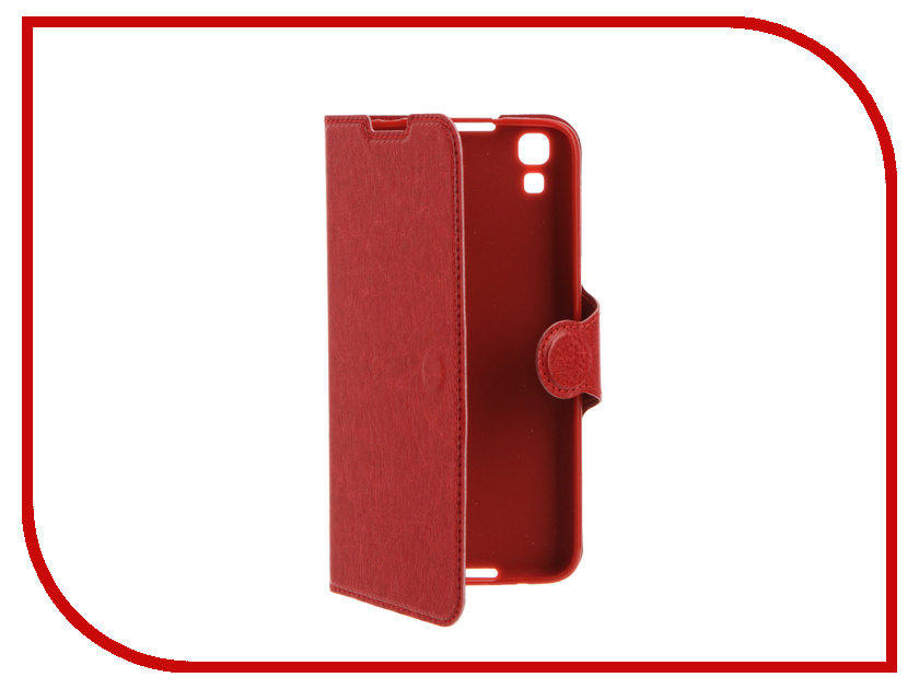 Аксессуар Чехол Alcatel OneTouch 6055 Idol 4 Red Line Book Type Red<br>