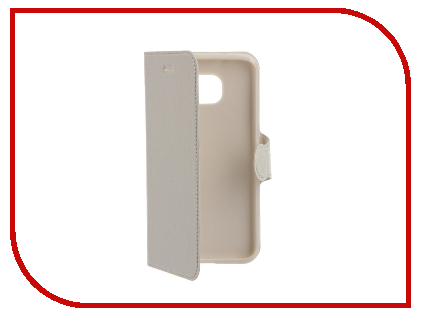 Аксессуар Чехол Samsung Galaxy S7 Edge Red Line Book Type White<br>