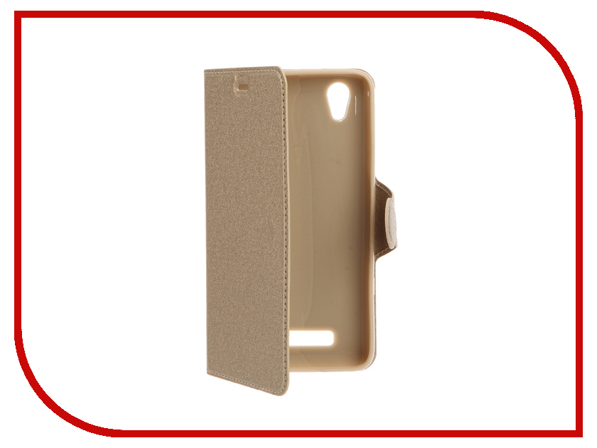 Аксессуар Чехол ZTE Blade X3 Red Line Book Type Gold<br>
