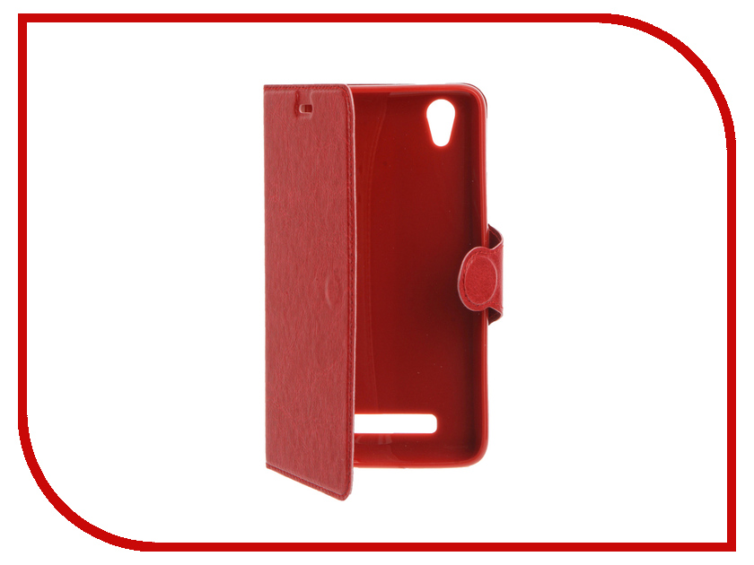 Аксессуар Чехол ZTE Blade X3 Red Line Book Type Red<br>