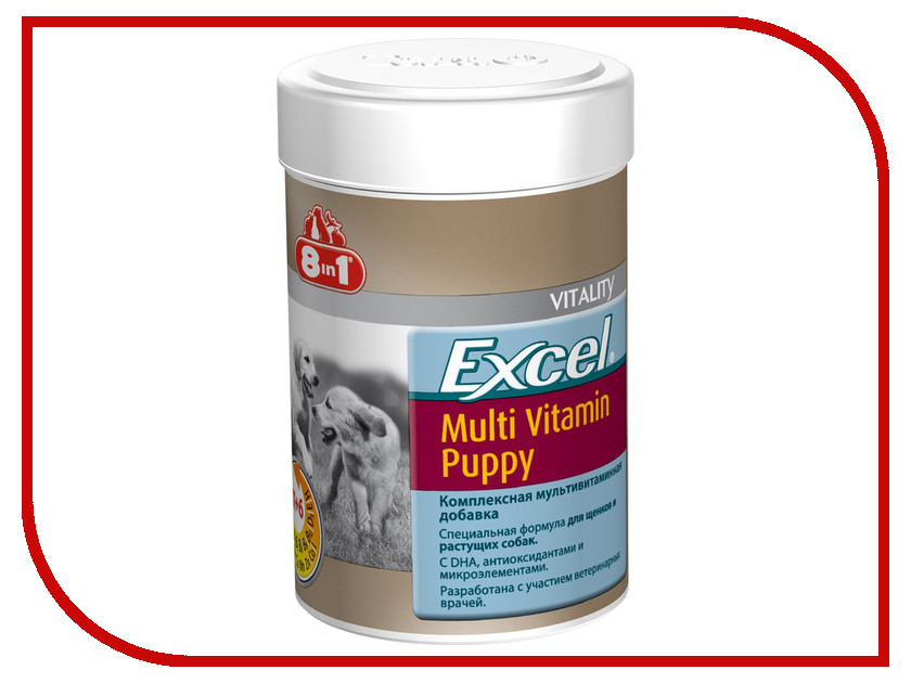 Витамины Beaphar Excel 100 таблеток для щенков 108634