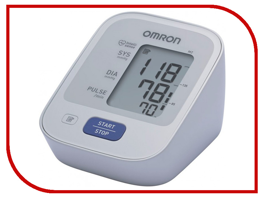 Тонометр Omron M2 Basic HEM-7121-ALRU + адаптер питания, универсальная манжета omron m2 classic hem 7122 alru blood pressure monitor home health care heart beat meter machine tonometer automatic digital