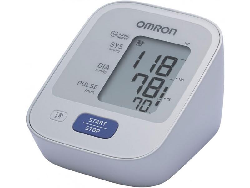 Тонометр Omron M2 Basic HEM-7121-ALRU + адаптер питания, универсальная манжета omron m2 classic hem 7122 alru blood pressure monitor home health care heart beat meter machine tonometer automatic digital