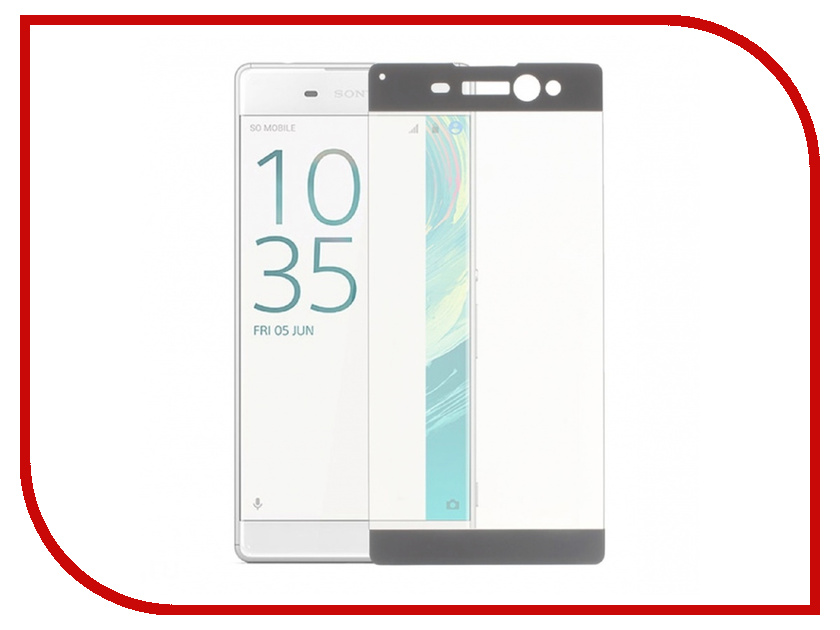 Аксессуар Защитное стекло Sony Xperia XA Ainy Full Screen Cover 3D 0.2mm Grey аксессуар защитное стекло samsung galaxy note 8 ainy full screen cover 3d 0 2mm black