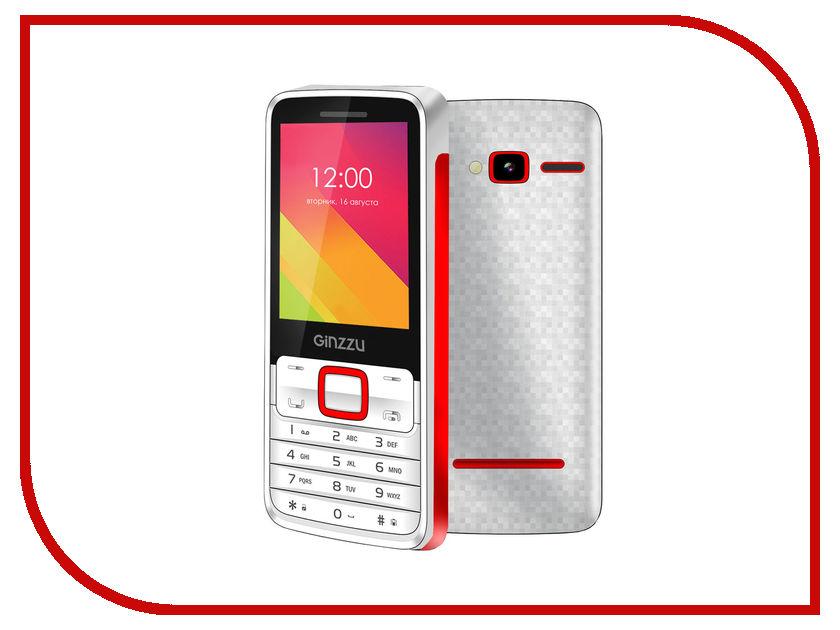 Сотовый телефон Ginzzu M101 DUAL White-Red