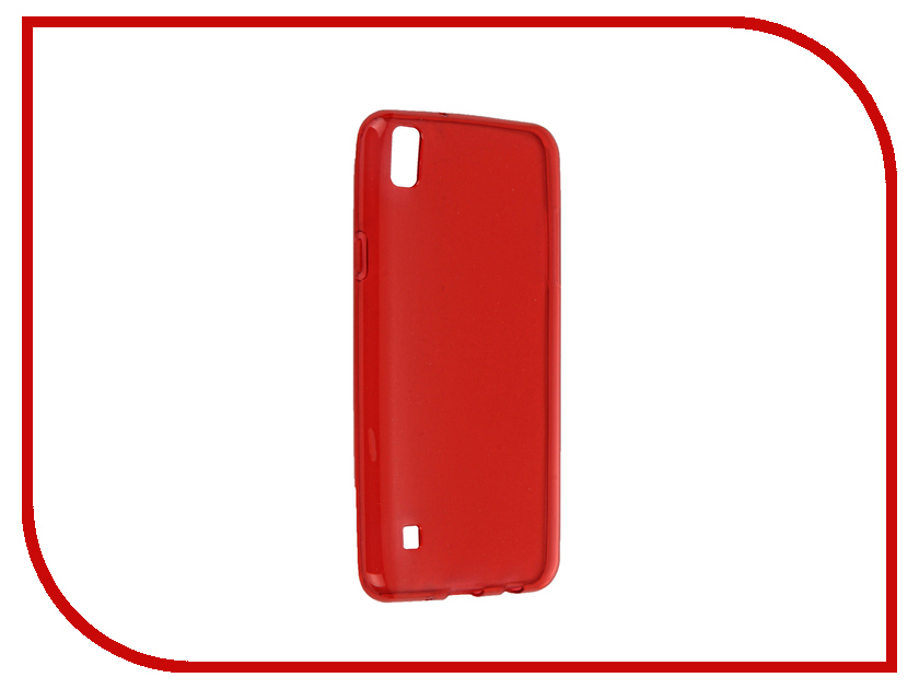 Аксессуар Чехол LG X Style iBox Crystal Red<br>