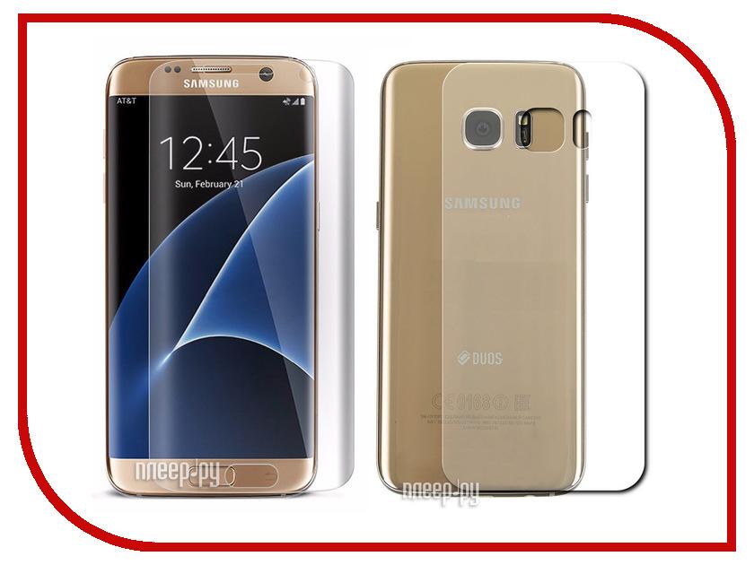 Аксессуар Защитная пленка Samsung Galaxy S7 (5.1) Red Line Full Screen TPU (экран + задняя панель)<br>