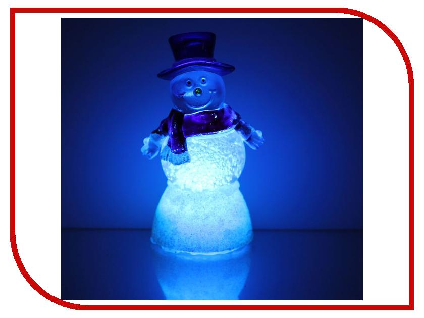 Новогодний сувенир Luazon Снеговик добряк RGB 1077345 гирлянда luazon дождь 2m 6m multicolor 671678