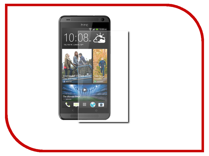 ��������� �������� ������ HTC Desire 620/626 Red Line Tempered Glass