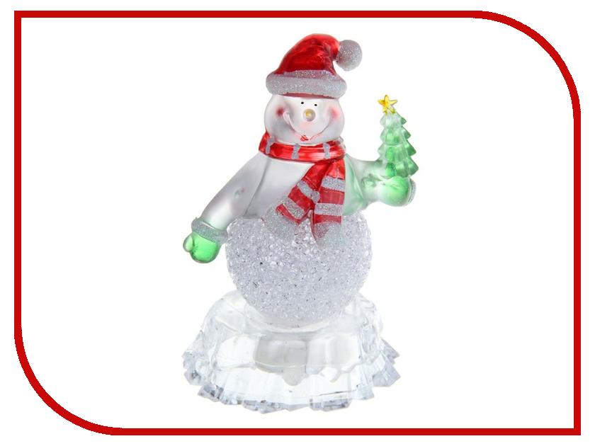Новогодний сувенир Luazon Снеговик на льдине с елкой RGB 1077358 тент luazon xl 490x180x150cm 680801 на автомобиль