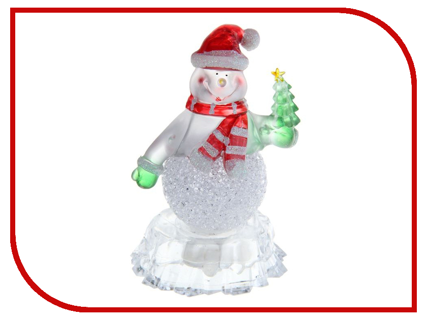 Новогодний сувенир Luazon Снеговик на льдине с елкой RGB 1077358 новогодний сувенир luazon дед мороз под елкой 1353359