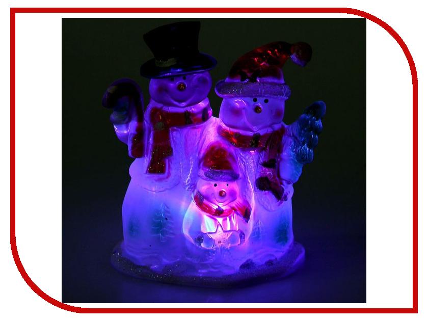 Новогодний сувенир Luazon Семья снеговиков RGB 1077360<br>