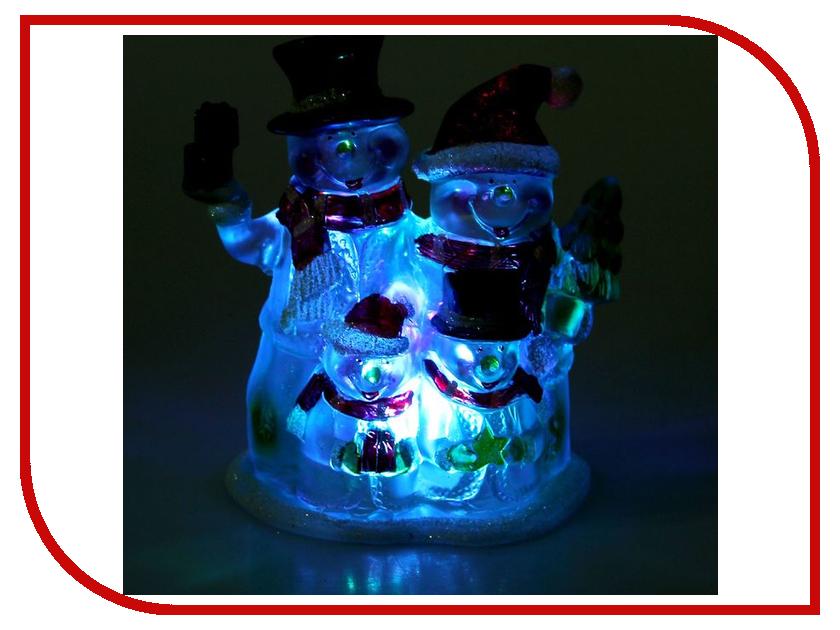 Новогодний сувенир Luazon Семейка снеговиков RGB 1077361 гирлянда luazon дождь 2m 6m multicolor 671678