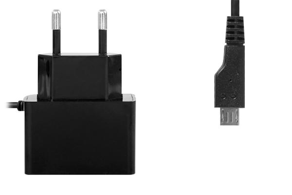 Зарядное устройство Ainy Micro USB+USB 2000 mAh EA-032A Black