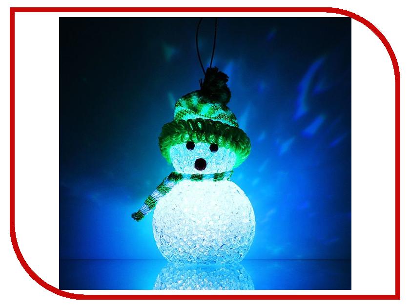 Новогодний сувенир Luazon Снеговик Green 1077489